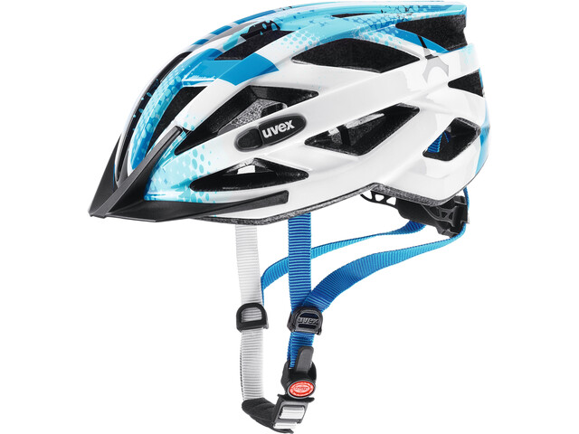 UVEX Air Wing Helmet Kinder blue-white